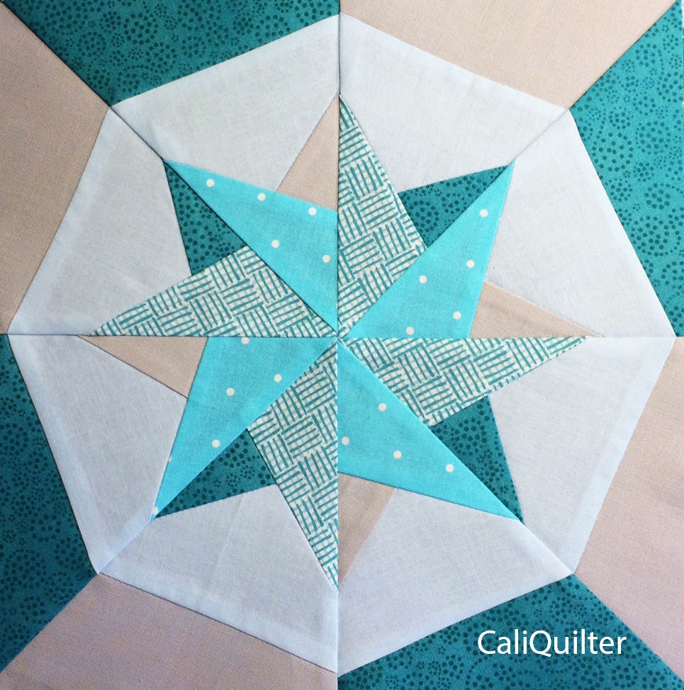 picture about Free Printable Paper Piecing Patterns for Quilting referred to as Paper Piecing Utilizing Freezer Paper Templates - Cali