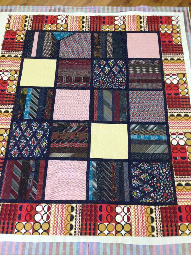 Quilts Using Men S Neckties Cali Quiltercali Quilter